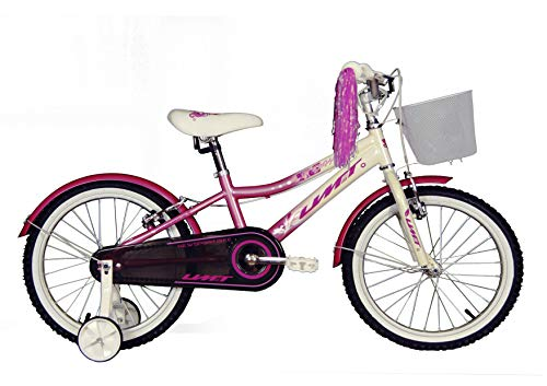 "Umit 18"" Diana Bicicleta Pulgadas Infantil, Unisex niños, Rosa/Blanco"