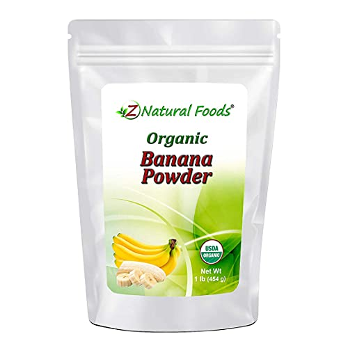 Organic Banana Powder - Fruit Supplement For Smoothies, Desserts, Drinks, Baking, & Cooking - Dried Superfood For Long Term Food Storage - Raw, Non GMO, Gluten Free, Vegan, & Kosher - 1 lb