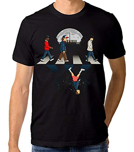 xx Stranger Things Abbey Road T-Shirt, Men's Women's Black,C