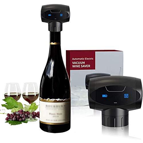 Weinflaschenverschluss, Elektrisch Vakuum Weinverschluss Wiederverwendbar Wein Vakuumverschluss Weinpumpe Hält Rotwein Frisch