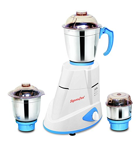 SignoraCare Maxima SCMX-2907 750-Watt Mixer Grinder with 3 Jars (White)