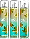 Bath and Body Works Wild Honeysuckle Fragrance Mist Gift Set Lot of 3 Bottles Full size