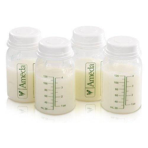 Ameda 4 Pack Breast Milk Storage Bottles, 4 Ounce by Ameda (English Manual)