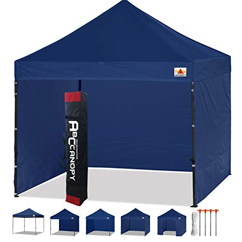ABCCANOPY 3x3m Pavillon,Flatpavillon,Partyzelt,Gartenzelt,Festzelt,WASSERDICHT,inkl.Zubehör,Navy Blau