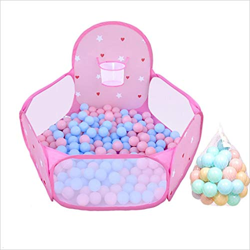 XUEYAN Tente intérieure de la Princesse Maison de Jeu intérieure pour Enfants Piscine clôture clôture Balle Se Pliante Maison Balle de tir Vague (clôture) (Couleur : Pink)