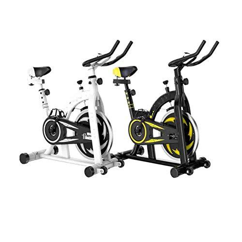 GLXYFC Bicicleta de ejercicio para interiores y exteriores, plegable, para familia, giratoria, profesional, portátil, color blanco