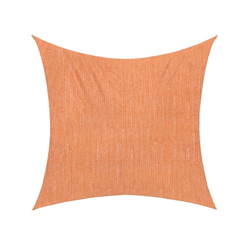 jarolift Voile d'ombrage   Toile d'ombrage   Carré   Tissu Respirant   360 x 360 cm, Orange