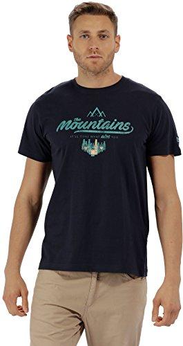 Regatta Cline II T-Shirt pour Homme Bleu Marine Taille S