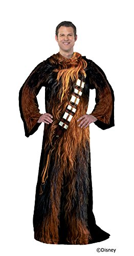 """Disney Star Wars, """"Being Chewie"""" Adult Soft Throw Blanket with Sleeves, 48"""" x 71"""", Multi Color"""