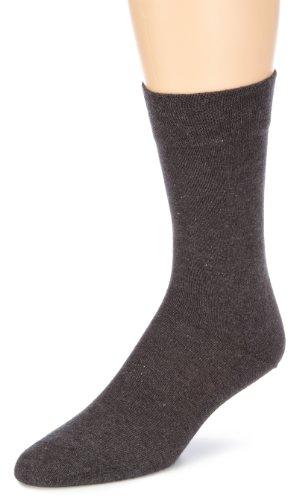 Hudson RELAX COTTON Herren Socken, Baumwollsocken Herren ohne Gummibund, Männersocken mit verstärkter Sohle (sportlich, viele Farben) Menge: 1 Paar, Grau (Grau-mel. 0550), Gr. 45-46