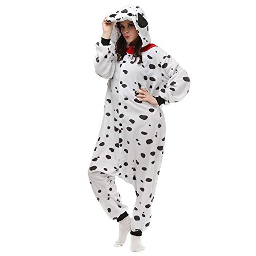 OGU' DEAL Adult Costumes Onesie Pajamas Anime Cosplay Christmas Sleepwear Onesies Outfit for Teenagers (Dalmatian Dog,M)