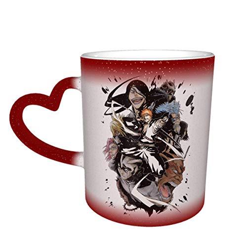 Thermobecher aus Keramik, mit Farbwechsel, mit Sternenhimmel, wärmeempfindlich, für Reisen, Kaffee und Tee