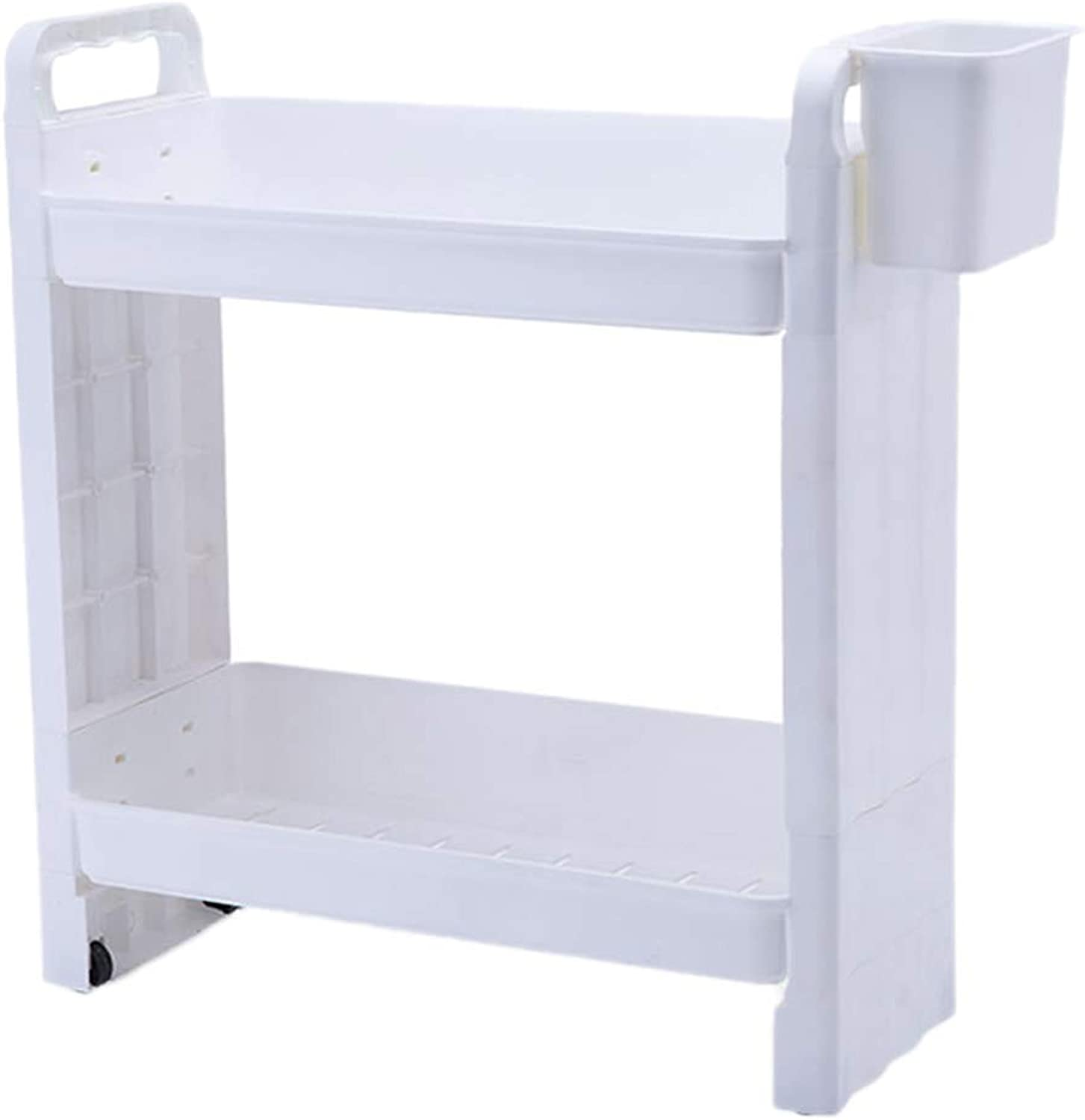 HUYP Sewn Storage Rack Removable Pulley Refrigerator Gap Kitchen Bathroom Storage Shelf (Size   S)
