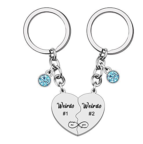 WTOPP 2Pcs Weirdo Keyring Best Friends Gift Friendship Gifts for Women...
