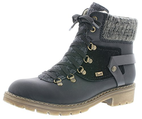 Rieker Damen Winterstiefel Y9143,Frauen Winter-Boots,warm,Tex-Membran,wasserfest,Blockabsatz...