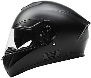 Motorcycle Full Face Helmet DOT Approved -YEMA YM-831 Motorbike Street Bike Racing Crash Helmet with Sun Visor for Adult, Men and Women - Matte Black,Large