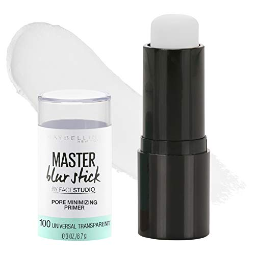 Maybelline New York Facestudio Master Blur Stick Primer Makeup, Universal Transparent, 0.3 oz.