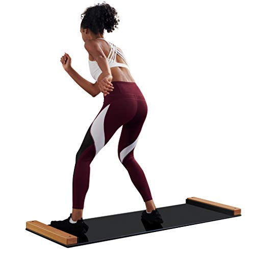 BRRRN Slide Board - Home Workout to Build Core Muscles and Great Cardio Workout - Easy to Use and Store - Exercise Equipment for Hockey, Ice Skating and Skateboarding -5 Ft