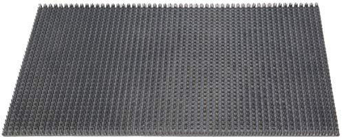 ID mat 406002 Gazongrat Paillasson de Tapis en Polyéthylène, Gris, 60 x 40 x 1,9 cm