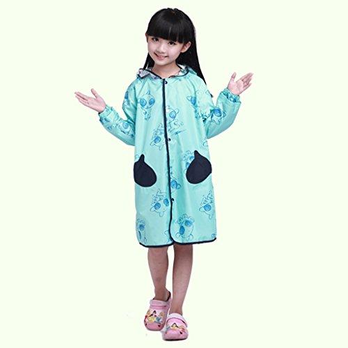 Vestes anti-pluie QFF Child Raincoat Boys and Girls Student Baby Poncho Protection de l'environnement sans goût (Taille : M)