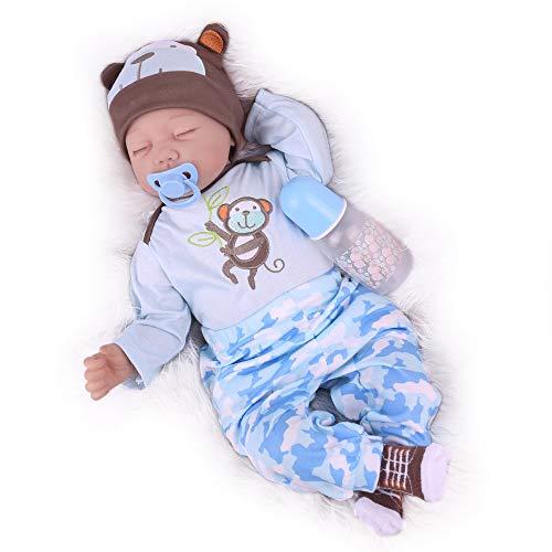 Kaydora Sleeping Newborn Baby Doll Boy,22 Inch Realistic Weight Baby Reborn Doll for Girl
