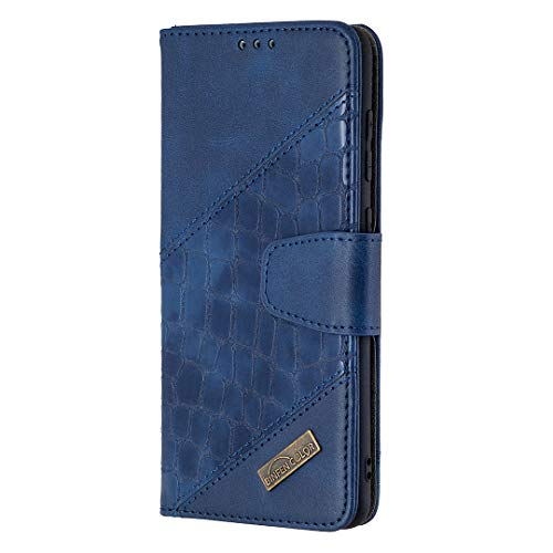 Hülle für Galaxy A31 Hülle Leder,[Kartenfach & Standfunktion] Flip Case Lederhülle Schutzhülle für Samsung Galaxy A31 - EYBF060145 Blau