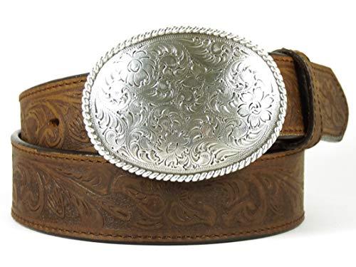 Nocona USA Western Gürtel Floral Oval Buckle Cowboy Cowgirl 30 inch