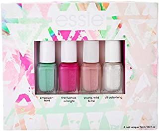 essie Trend Collection Nail Polish Kit, Summer 2018 Nail Polish Kit, The Fuchsia Is Bright/Empower-Mint/Young/Wild & Me/All Daisy