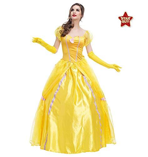 COSOER Die Schöne Und Das Biest König Cosplay Kostüm Filmfigur Kleidung Halloween Karneval Paarabnutzung,Princess1-S