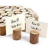 ToPicks 50 Stück Tischkartenhalter Holz, Fotohalter Platzkartenhalter Tischkartenhalter Rustikale für Hochzeit, Party, Familienessen