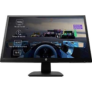 HP 27o Monitor Gaming TN, Schermo 27 pollici, Risoluzione 1920 x 1080, Tempo di Risposta 1 ms, Comandi sullo Schermo, HDMI e VGA, Reclinabile, Nero