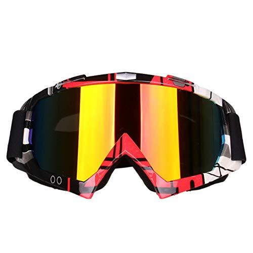 Gafas De Esquí Montar Montañismo Marco De Espejo Motocicleta Gafas De Campo Traviesa Gafas De Viento Y Arena Resistencia Al Impacto,1