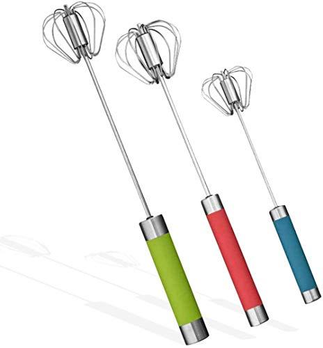 Comforty 3 varillas batidoras manuales de batidor semiautomático, silenciosas, pequeñas y no...