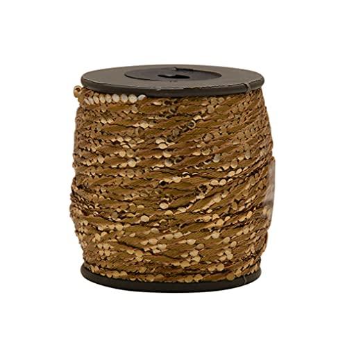 KALAGIRI GOTA 시퀀스 스레드 브라운 컬러 자수와 크로 셰 뜨개질 보석 만들기 원사 스레드 80 미터 팩 2PCS
