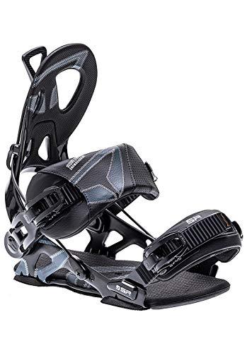 SP United Unisex– Erwachsene Core Snowboardbindung, Black, XL