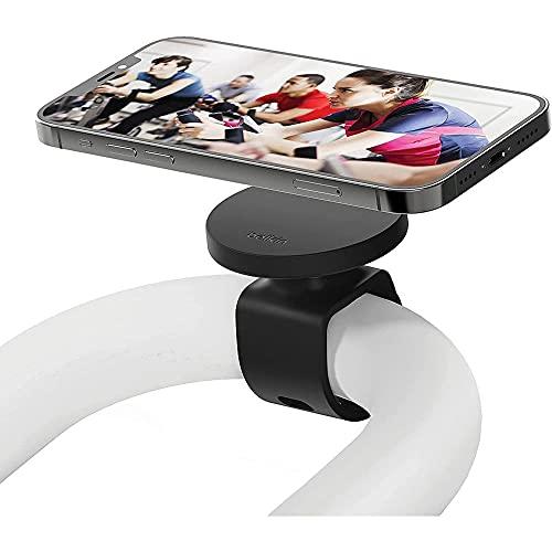 Belkin Fitness-Halterung mit MagSafe (für Fitness-Studio-Geräte, magnetische Mobilgerät-Halterung, Lenkerschlaufe für Ergometer, Laufband, Spinning-Rad, Ellipsentrainer für die iPhone 12-Serie)