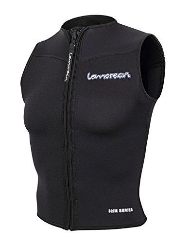 Lemorecn Womens Wetsuits Top Premium Neoprene 3mm Zipper Diving Vest