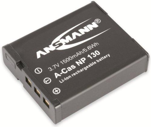 ANSMANN 1400-0017 A-Cas NP 130 Li-Ion Digicam Akku 3,7V/1500mAh für Casio Foto Digitalkamera