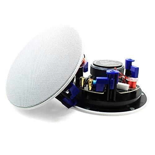 Herdio 4 Zoll 2-Wege Bluetoothlautsprecher Deckenlautsprecher Einbaulautsprecher mit Bluetooth, 1 Paar Boxen (2 Speaker), Farbe: weiß, Decken-Einbaulautsprecher, Einbauboxen