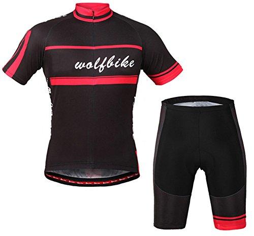 Wosawe, set di due pantaloncini da donna con fiamma, per equitazione e ciclismo, Donna, Nero , US M(Asian L)