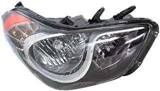 Headlight Assembly Compatible with 2011-2013 Hyundai Elantra Halogen Sedan USA Built Passenger Side