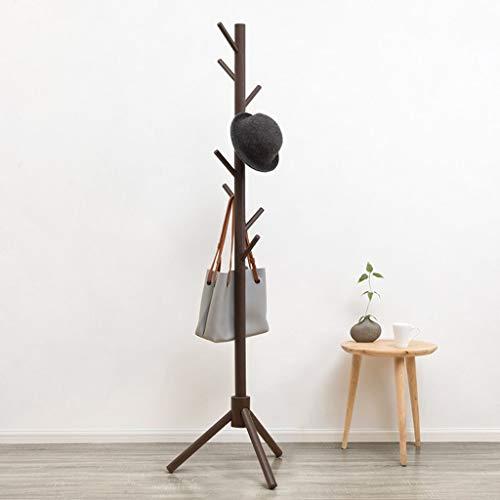 Perchero de Pie 175cm árbol de soporte de madera Escudo Rack, 8 Ganchos - Independientes soporte de la capa, la capa Pasillo percha perchero, for el bolso, ropa y accesorios Perchero para Abrigos
