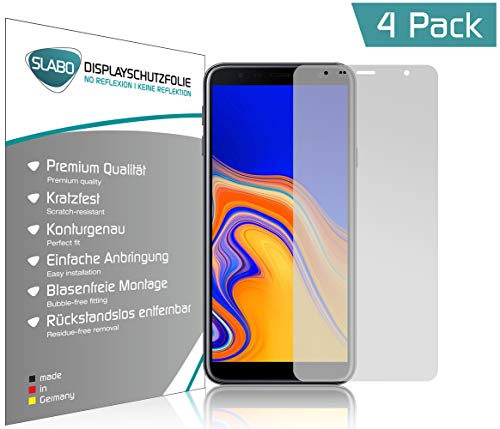 Slabo 4 x Bildschirmschutzfolie für Samsung Galaxy J4+   Galaxy J6+ Bildschirmfolie Schutzfolie Folie Zubehör No Reflexion MATT