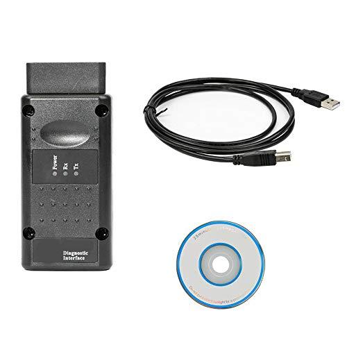 BDSEALY OBD2 Diagnosegerät Auto Diagnose OBD OP-COM V1.99 USB für Opel,Black