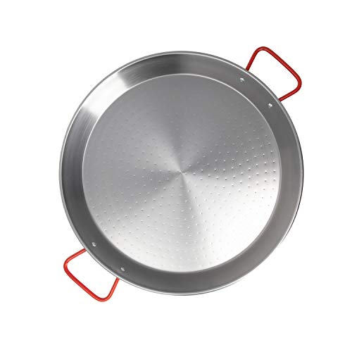 commercial Machika 60 cm paella frying pan made of polished steel paella pans