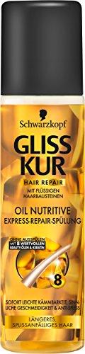 Gliss Kur Oil Nutritive Spülung-Spray, 3er Pack (3 x 200 g)