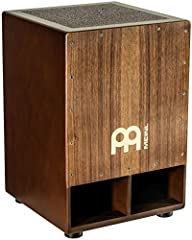 Our biggest and bassiest cajon — with a low end punch that you will feel as soon as you start playing, the Meinl Jumbo Subwoofer Cajon is mammoth in size and sound — the extra wide body with internal bass reflex allows for superb low note development...