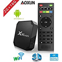 TV Box Android 9.0 - Aoxun X96 Mini Smart TV Box Amlogic Quad-Core, 2GB RAM & 16GB ROM, Video 4K UHD H.265, 2 Porte USB, HDMI, WiFi Web TV Box