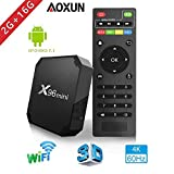 Aoxun X96 Smart TV Box Android 9.0 - Processeur Quad Core Amlogic S905W, 2 Go de RAM & 16 Go de ROM, 4K Ultra HD H.265, 2 ports...