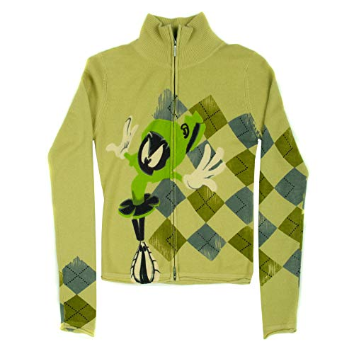 Limited Edition Looney Tunes by RAW 7 Marvin The Martian Cashmere Zip Up Sweater
